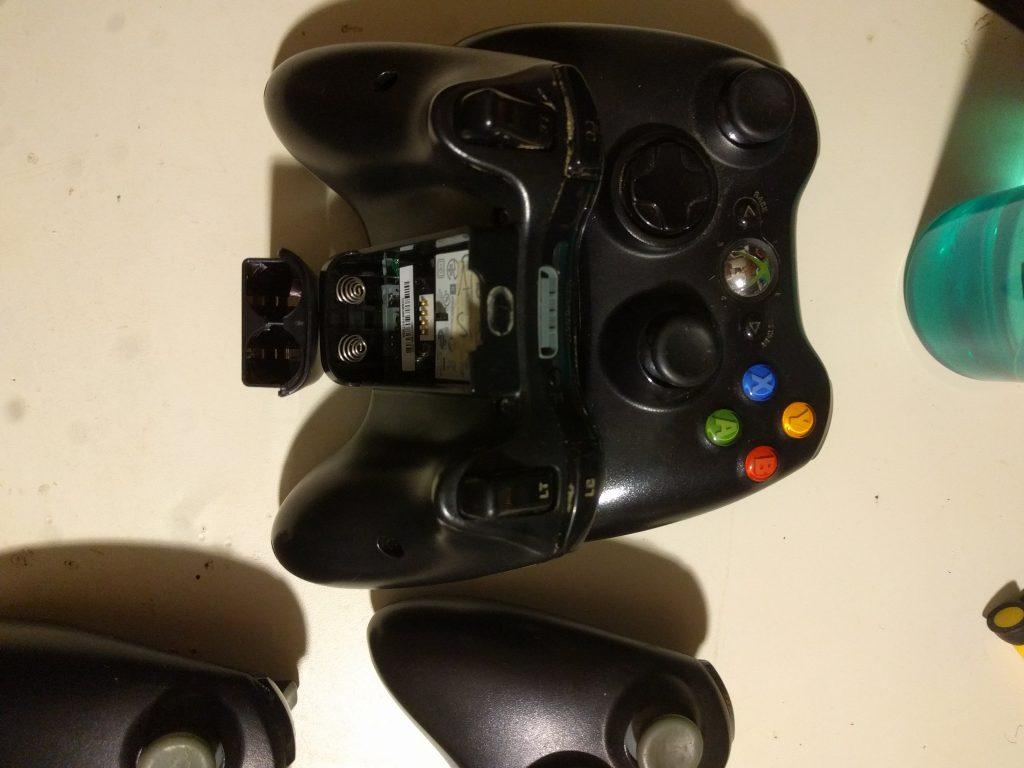 Pre-clean Xbox 360 controller.