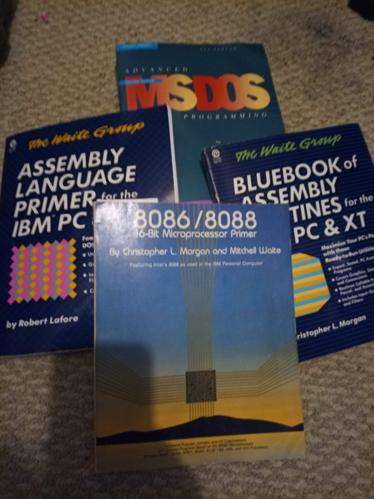 Just a few DOS programming books I've collected recently.